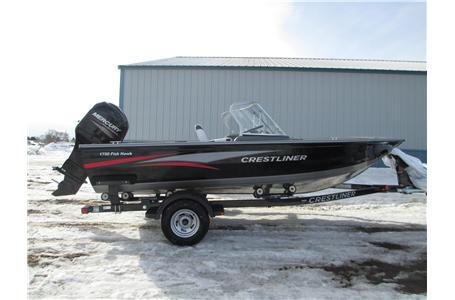 2014 Crestliner 1750 Fish Hawk WT W/Mercury 115 HP 4-Stroke