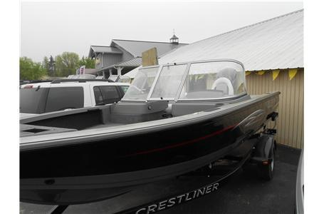 2013 Crestliner 1850 Fish Hawk WT Black w/150hp Mercury 4-Stroke EFI