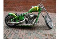 2004 Sucker Punch Sally Chopper Hardtail Evo Custom flames bobber