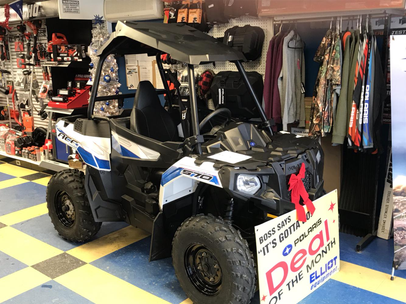 Polaris Ace For Sale >> 2018 Polaris Industries Polaris Ace 570 Eps White Lightning Christmas Special