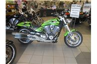 2010 Victory Motorcycles Hammer Green Flame Xtreme Graphics