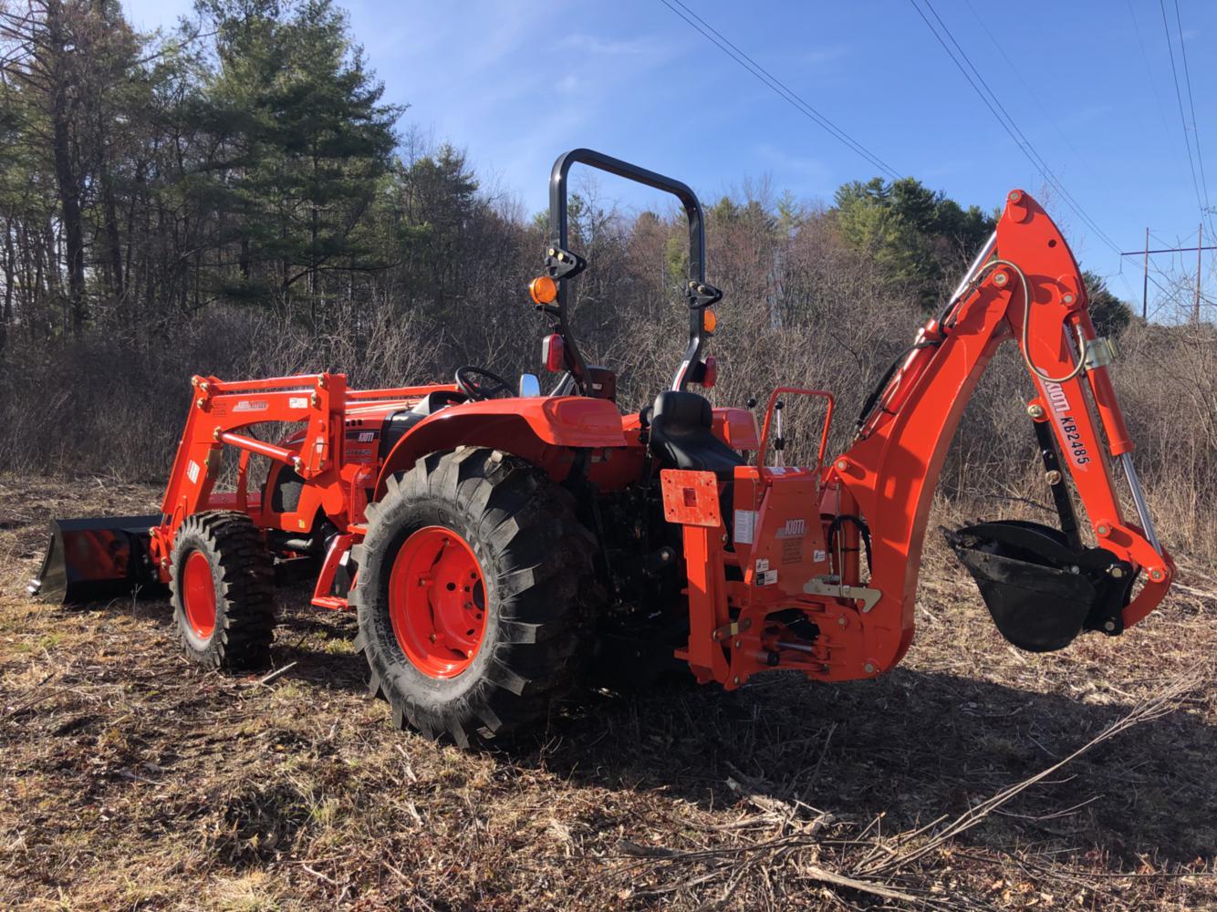 Kioti RX6620 Powershuttle Tractor w/ Loader & Backhoe for
