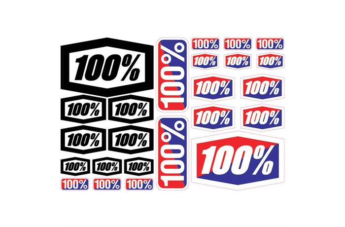 100 sticker kit