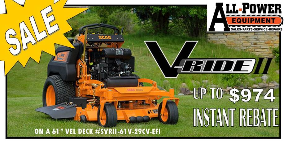 Scag Sales All-Power Equipment Kankakee, IL (815) 939-2513