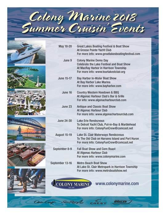 Events List Colony Marine