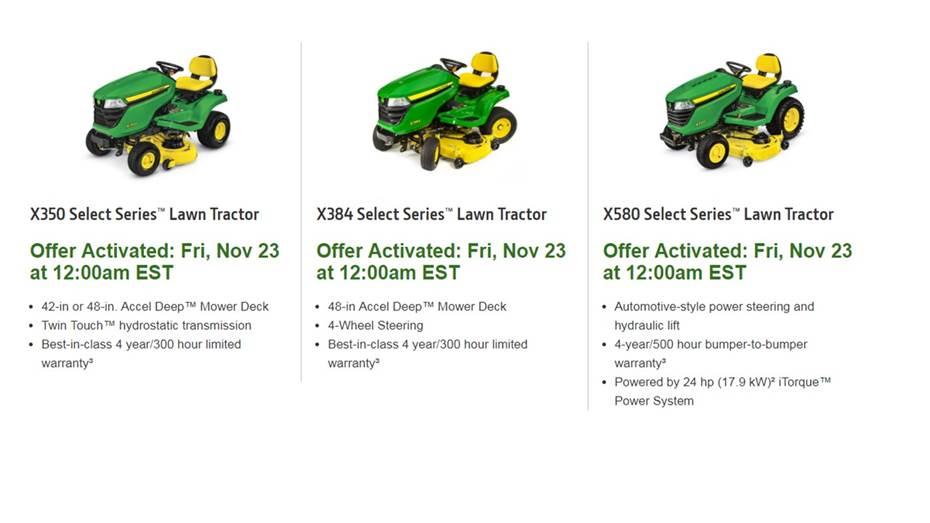 John Deere Black Friday Specials Lakeland Lawn & Equipment, Inc