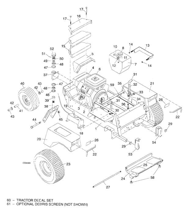 Woods 6160 Mown Machine Tractor Assembly Central Equipment