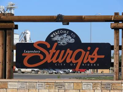 Sturgis Welcome Sign