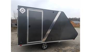 "2018 13"" Hybrid Deluxe Aluminum Enclosed Snow Trailer"