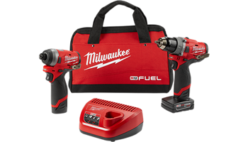 "2598-22 M12 FUEL™ 2-Tool Combo Kit: 1/2"" Hammer Drill and 1/4"" Hex Impact Driver"