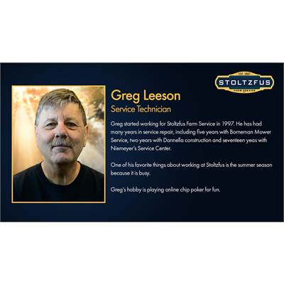 Greg Leeson - Technician