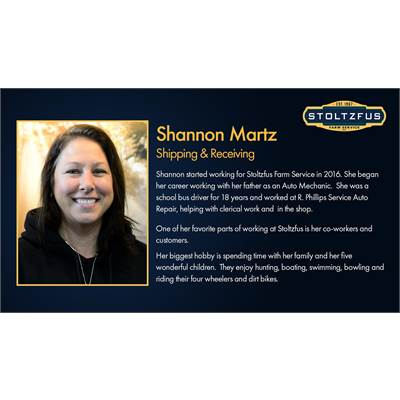 Shannon Martz - Shipping / Recieving