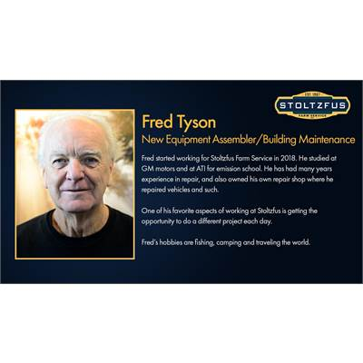 Fred Tyson - Equipment Set Up