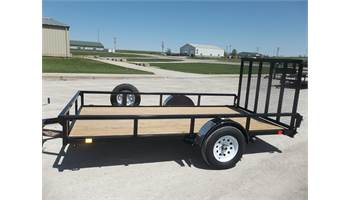 2019 82x12 Rail Side, with spare tire