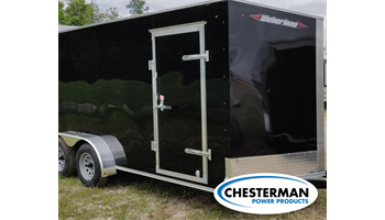 2020 7x16 V-Nose Estate Tandem Enclosed Cargo Trailer - REAR RAMP - *MADE IN CANADA*