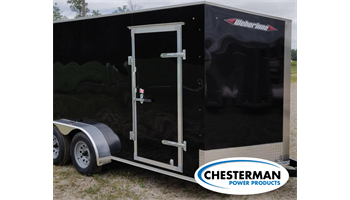 2020 7x14 V-Nose Estate Tandem Enclosed Cargo Trailer - REAR RAMP -  *MADE IN CANADA*