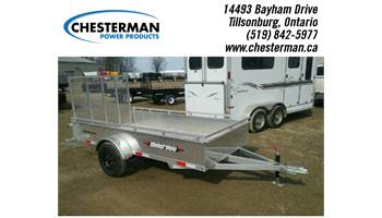 2017 5x10 Aluminum Single Axle Utility Trailer - Alum. Floor (AWL1060)