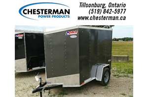 5x8 Outback V-Nose Cargo Trailer - Single Barn Door