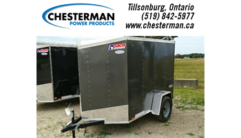 2018 5x8 Outback V-Nose Cargo Trailer - Single Barn Door