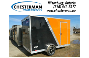 7x12 Elite Aluminum Enclosed Cargo Trailer - Rear Ramp - Brakes