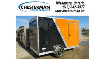 2019 7x12 Elite Aluminum Enclosed Cargo Trailer - Rear Ramp - Brakes