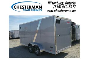 7x16 Elite Aluminum Enclosed Cargo Trailer - Rear Ramp