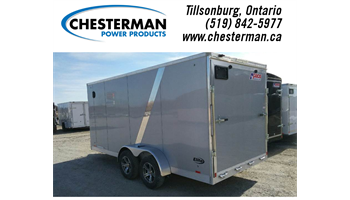 2019 7x16 Elite Aluminum Enclosed Cargo Trailer - Rear Ramp