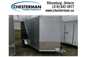 7x12 Elite Aluminum Cargo Trailer - Rear Ramp - Brakes