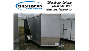 2019 7x12 Elite Aluminum Cargo Trailer - Rear Ramp - Brakes