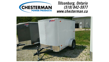 2019 5x8 Outback Enclosed Cargo Trailer - Barn Door