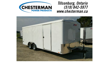 2019 8.5x20 Journey Tandem Axle Enclosed Cargo Trailer - Ramp Door