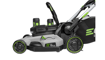 "Power+ 21"" Self-Propelled Lawn Mower with (2) 5.0AH Batteries & Rapid Charger"