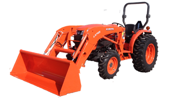 L4701HST 4WD TRACTOR w/ KUBOTA LA765FL Loader and a 6' Land Pride Shredder