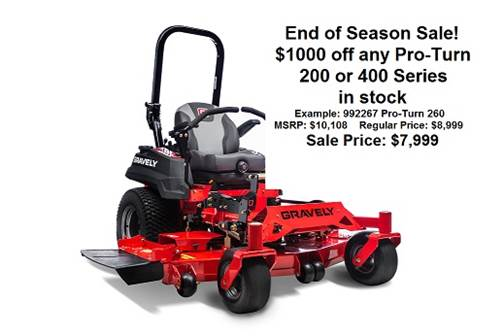 gravely sale