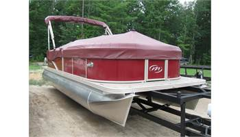 "2018 22 Aurora LE Twin Tube 25"" 115hp. Save with a 90hp or 75hp"