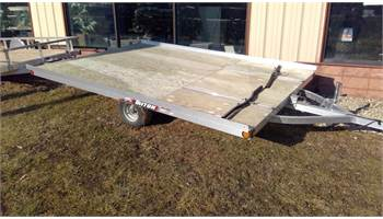 2017 XT12-101 2-place tilt bed open snowmobile trailer