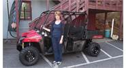 Pam all smiles with her FUN new Polaris 570 Ranger Crew