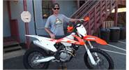 Mike looking forward to many days of FUN on his 2016 KTM 250 XC-F