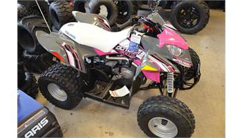2019 Outlaw® 110 - Avalanche Gray/Pink Power