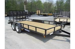 2019 SURE-TRAC UTILITY TRAILER 7X16 / TANGLE IRON / 7000GVWR