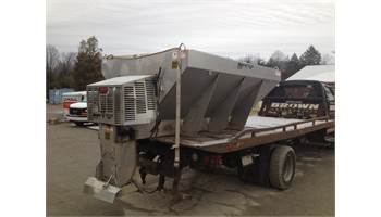 2009 Meyer V-Box Insert Spreader -- Stainless Steel, 11 HP Honda Engine, 3CU
