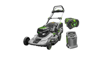 "LM2102SP Power+ 21"" Self Propelled Mower with 7.5Ah Battery and Rapid Charger"