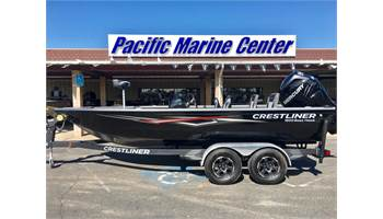 2018 1850 Bass Hawk Pedestal-Mercury 200hp