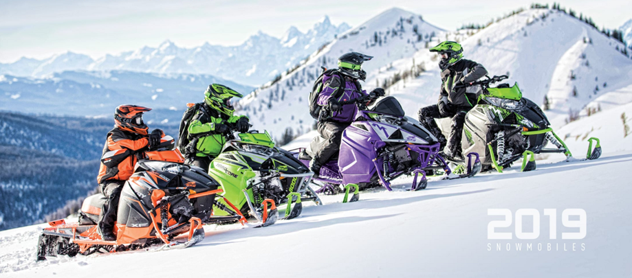 2019 Arctic Cat Snowmobiles Group Riding