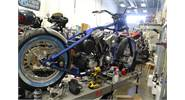 Custom Motorcycle build. Harley Davidson, S&S Cycle parts at jackman Custom Cycles in Ormond Beach FL