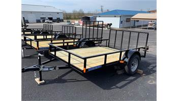 2019 6 ft X 10 ft Single Axle Utility Dovetail Trailer