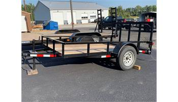 2019 6 ft X 10ft Single Axle 2' Dove Utility Trailer