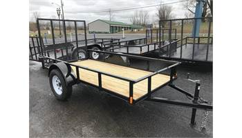 2019 5 X 10 Single Axle Utility Trailer 4 Ft Gate