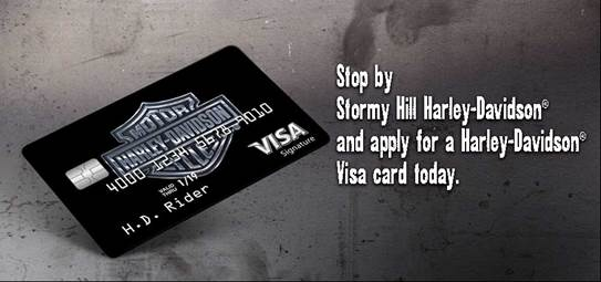 Apply for a Stormy Hill Harley-Davidson Visa card