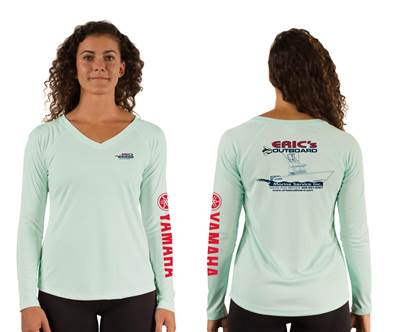 Seagrass Ladies V-Neck Performance Long Sleeve